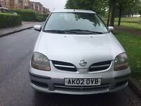 Nissan Almera Tino twister Estate 2002. 1.8 petrol Manual