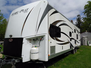 Forest River Work n Play Toy Hauler RV trailer