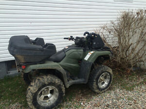 2014Honda foreman 500 and cash for trade