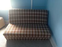 Futon, living room chairs, dresser and bed for sale