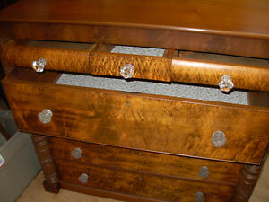 1890's Bird's Eye Maple Bonnet Chest Cambridge Kitchener Area image 2