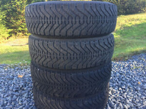 Four P185/65R15 Winter Tires
