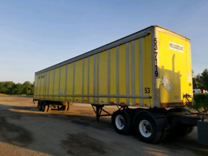 Lease storage trailers. For sale or rent. Trailer van