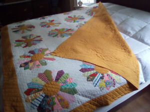 Beautiful home made quilt king all hand stitched..