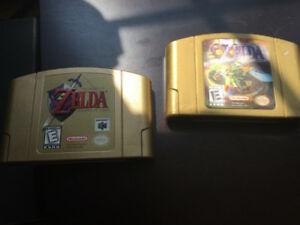 Legend of Zelda- Ocarina of Time & Majoras Mask - Gold Editions