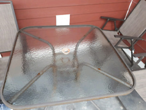 Patio table and chair