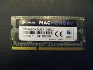 4gb Corsair DDR3 pc3-8500s Laptop Ram