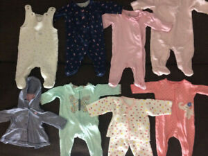 Barely used baby girls clothes Size 0-6