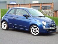 Fiat 500 1.2i Lounge (blue) 2009
