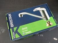 Bristan Java Single Flow Easyfit Kitchen Sink Mixer Tap Steel (J SFSNK ST EF C)