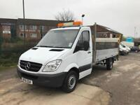 2012 Mercedes-Benz Sprinter 2.1TD 313CDI LWB 14ft dropside pickup with tail lift
