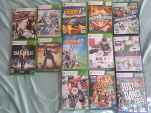 Lot of 13 XBOX 360 games: NHL UFC Madden + more