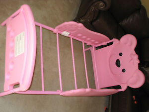 Pink bear toddler bed for sale
