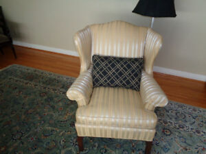 GOLD WING BACK CHAIR