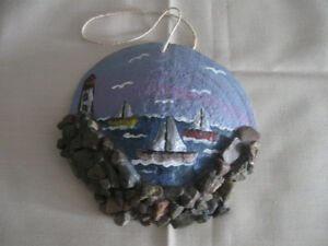 DECORATIVE HAND-CRAFTED SEASHELL NAUTICAL WALL HANGING