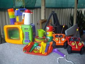 Kids toys, boat, cars, kids kitchen toys, Barbie doll +outfits Raymond Terrace Port Stephens Area Preview