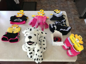 Build-A-Bear Dalmation and Outfits