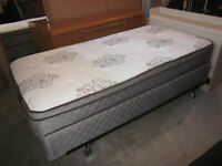 Single Pillowtop Mattress, Boxspring and Frame - Can Deliver