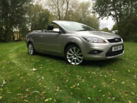 2008 58 Ford Focus CC 2.0TDCi CC-3 SILVER CRUISE HALF LEATHER NEW MOT 57 MPG