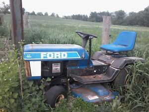 BLUE FORD LAWN TRACTOR