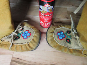 Authentic Moccasins Leather Suede Boots Hand-made