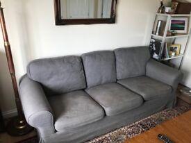 Grey 3 seater Ikea sofa