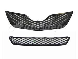FOR 2010-2011 TOYATA CAMRY SE GRILLE FRONT BUMPER LOWER GRILLE CENTER 2PCS