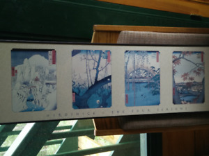 Japanese Four Seasons Poster for Sale