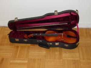 Josef Jan Dvorak 3/4 Violin with Glasser bow and hard Case