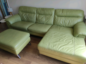 Lime green sofa set
