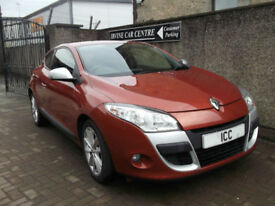 10 10 RENAULT MEGANE COUPE SPORT 1.5DCI DIESEL I-MUSIC 3DR BLUETOOTH £30 TAX A/C