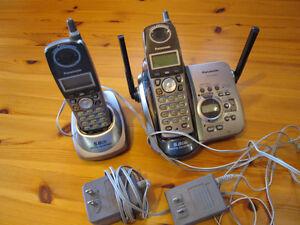 PANASONIC KX-TG5652 sans-fil 2-unités 5.8Ghz Cordless 2-handsets