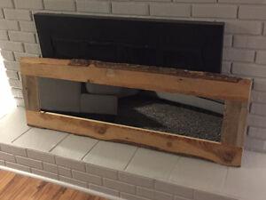 Weathered 100 year old barnwood mirror