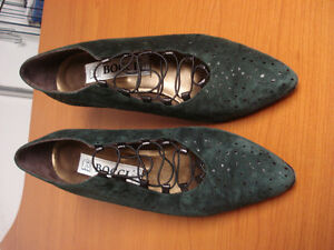 Forest Green Suede & Leather Shoes