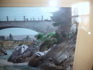 """Hugh Cummings """"Sauble River And Bridge"""" 1900's Hand Colored Phot Stratford Kitchener Area image 8"""