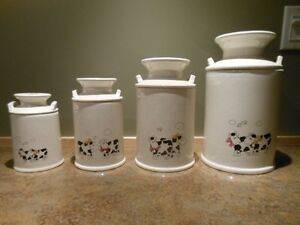 Shower or Wedding Gift - 4 Canister set for the Kitchen