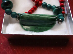 Interesting Piece --Watermelon Necklace