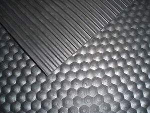 Rubber Floor Mat Ribbed Great for Trucks, Barns and Gyms!