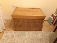 Large rattan storage chest