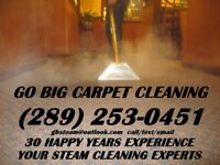 LET THE EXPERTS AT GO BIG STEAM CLEANING GET YOUR HOME READY NOW