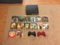 PS3 250gb Slim plus 12 games