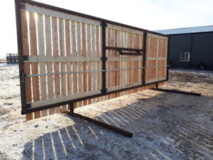 HEAVY WIND PANELS MADE OUT OF 3 1/2 DRILL STEM AND CALF SHELTERS