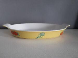 Descoware Enamel Cast Iron Oval Au Gratin Casserole Dish