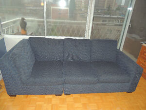 Beuatiful Blue 3 Seater Couch