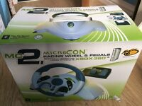Xbox360 Racing Wheel & Pedals