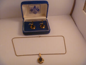 Gold Filled Necklace And Earring Set