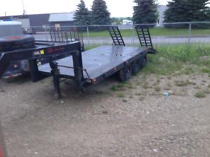 5ft wheel  trailer  triple axel