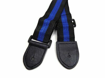 Blue Black Guitar Strap for Youth Kids Acoustic Electric Bass 28-48 Nylon