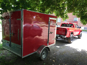 2014 enclosed trailer 5x8 2 foot wedge nose