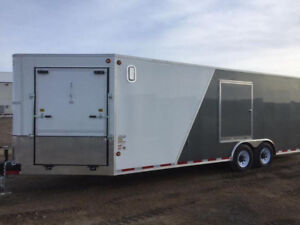 2018 CJay Toy Hauler 8x23 Enclosed (4073) - White/Grey